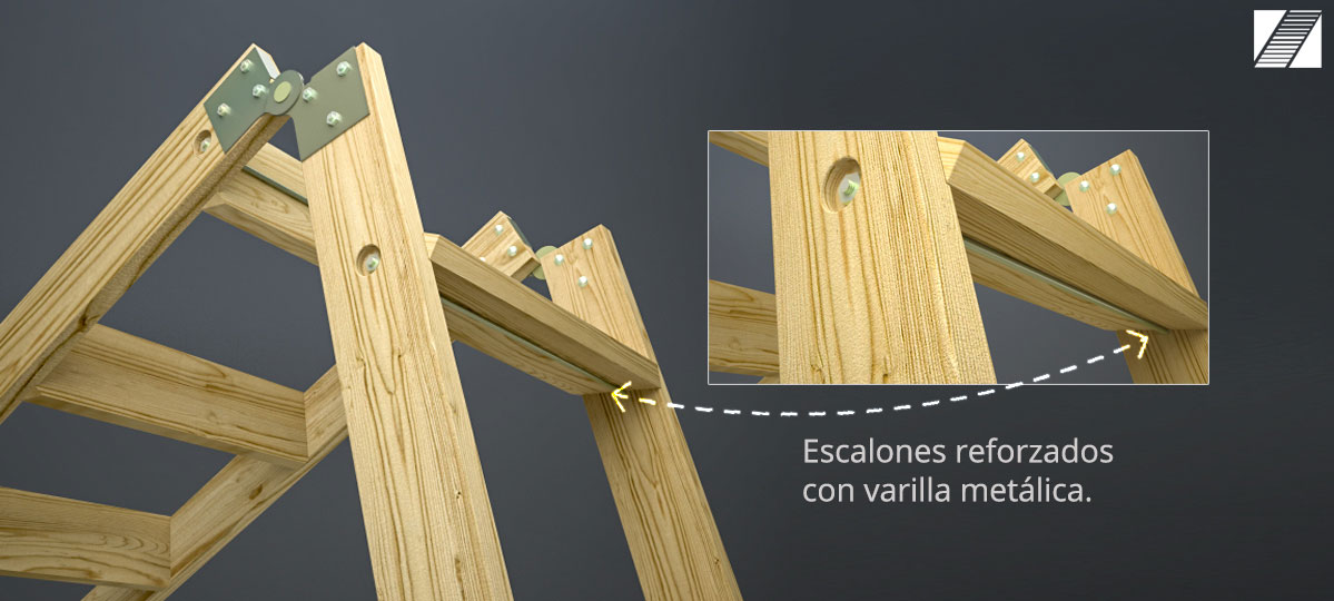 Escaleras para altillos plegables eskabo - Escalera plegable altillo ...